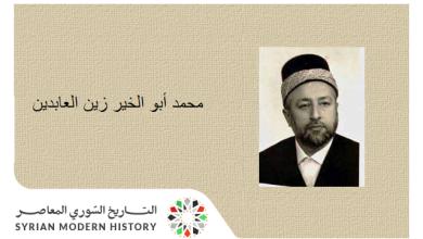 صورة الشيخ محمد أبو الخير زين العابدين .. الموسوعة التاريخية لأعلام حلب
