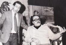 """صورة الفنان عبد اللطيف فتحي مع الفنان رياض نحاس في مسرحية """"الأرملة والمليون"""""""