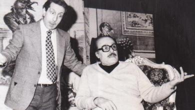 """الفنان عبد اللطيف فتحي مع الفنان رياض نحاس في مسرحية """"الأرملة والمليون"""""""