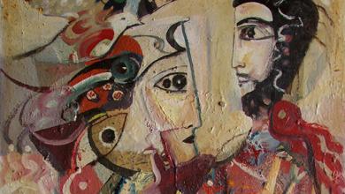 من وحي تدمر .. لوحة للفنان أحمد مادون (17)