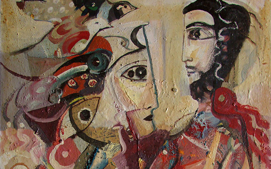 صورة من وحي تدمر .. لوحة للفنان أحمد مادون (17)