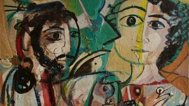 وجوه .. لوحة للفنان أحمد مادون (18)