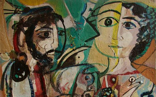 صورة وجوه .. لوحة للفنان أحمد مادون (18)