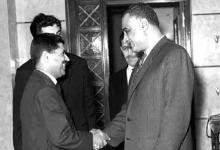 صورة جمال عبد الناصر يستقبل يوسف الزعين عام 1966 (1)