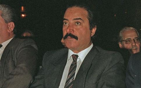 دمشق 1989 - يوسف شعبان في افتتاح مهرجان دمشق السينمائي السادس