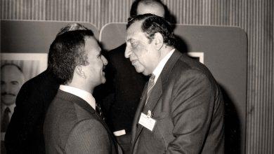 صورة عمر بهاء الدين الأميريوالأمير حسن بن طلال عام 1983