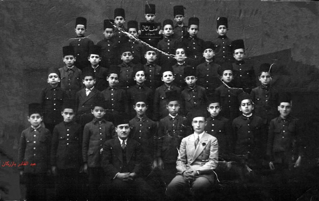 حلب 1936- طلاب الصف الثاني في إحدى المدارس الإبتدائية