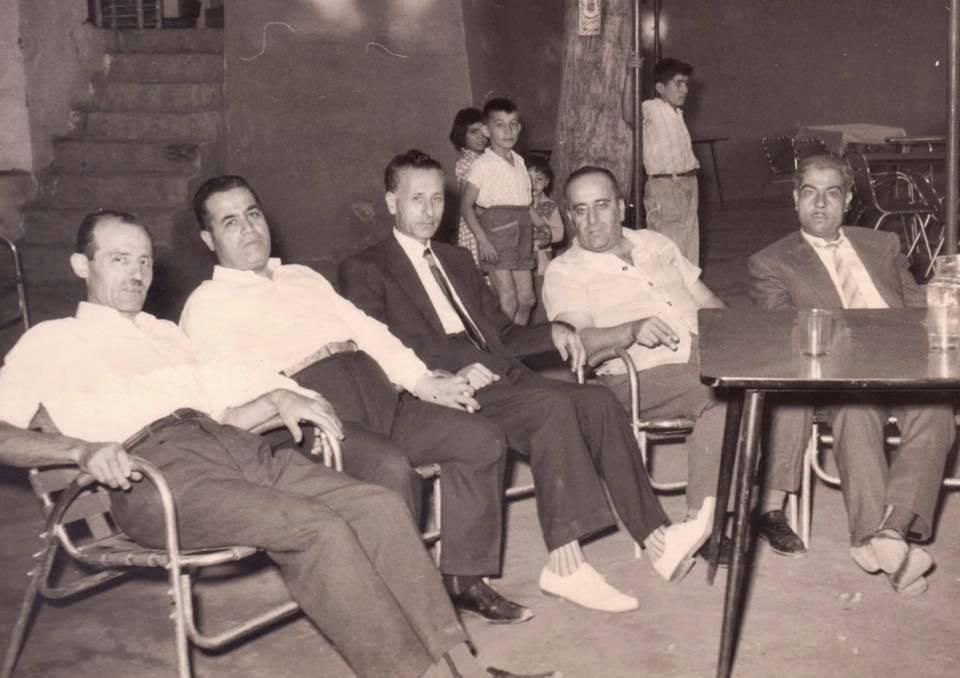 بعض تجار حلب في بلودان خلال معرض دمشق 1961