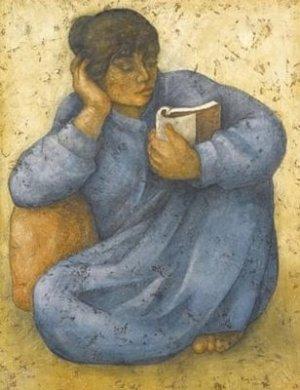 القارئة 2 .. من لوحات الفنان لؤي كيالي (31)