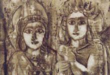 شمش وملكبل .. لوحة للفنان أحمد مادون (20)