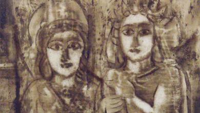 صورة شمش وملكبل .. لوحة للفنان أحمد مادون (20)