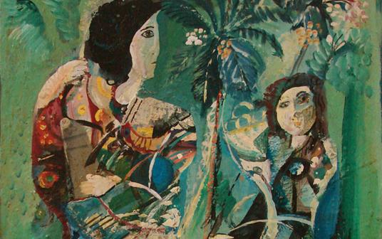 صورة نساء من تدمر .. لوحة للفنان أحمد مادون (19)