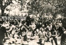 صورة دمشق 1939 – الشرطة تفرق مظاهرة خرجت احتجاجاً على قانون الأحوال الشخصية