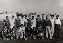 صورة لقاء بين فريقي الغوطة (دمشق) وفريق الفتوة (حماه) بكرة اليد عام 1964