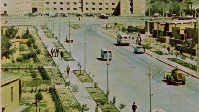 صورة الرقة 1972-  مديرية سد الفرات في مدينة الطبقة