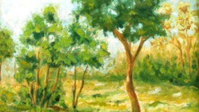 صورة منظر طبيعي … من لوحاتالفنان لؤي كيالي (35)