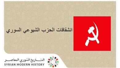 صورة انشقاقات الحزب الشيوعي السوري
