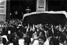 صورة دمشق 1967 – تشييع شكري القوتلي في المسجد الأموي