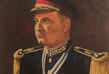 صورة العميد جمال الفيصل بريشة الفنان مروان شاهين عام 1957م