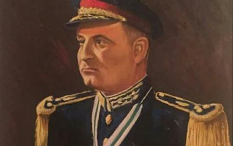 العميد جمال الفيصل بريشة الفنان مروان شاهين عام 1957م