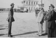 محمد نزهت اليافي في حفل التخرج من مدرسة الطيرانبحلب في الخمسينيات