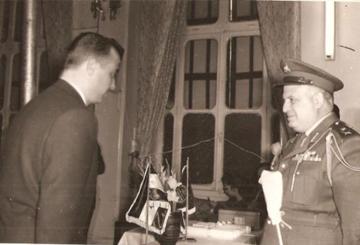 محمد نزهت اليافي و جمال فيصل عام 1959