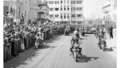 دمشق- شارع النصر 1958- زيارة جمال عبد الناصر عقب إعلان الوحدة (1)