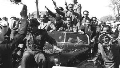 صورة جمال عبد الناصر في السويداء بمناسبة العيد الثانى للوحدة عام 1960م (3)