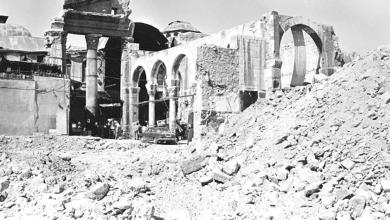 دمشق 1984 - هدم سوق المسكية
