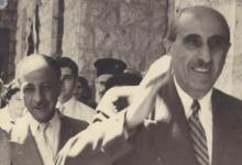 الرئيس شكري القوتلي والأديب فؤاد الشايب في ساحة مار تقلا في معلولا