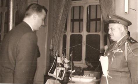 صورة محمد نزهت اليافي و جمال فيصل عام 1959