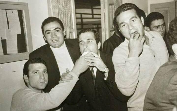 اللاذقية 1969- احتفال نادي اللاذقية عقب الفوز ببطولة الجمهورية لكرة الطائرة