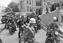 دمشق 1958- وصول جمال عبد الناصر إلى قصر الضيافة بعيد إعلان الوحدة