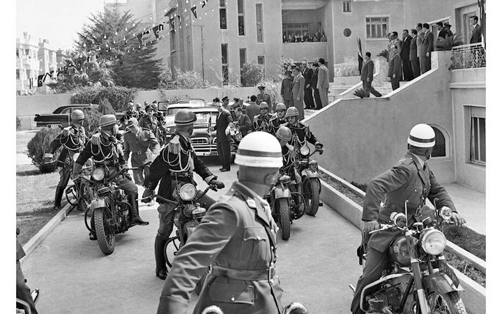 دمشق 1958- وصولجمال عبد الناصرإلى قصر الضيافة بعيد إعلان الوحدة