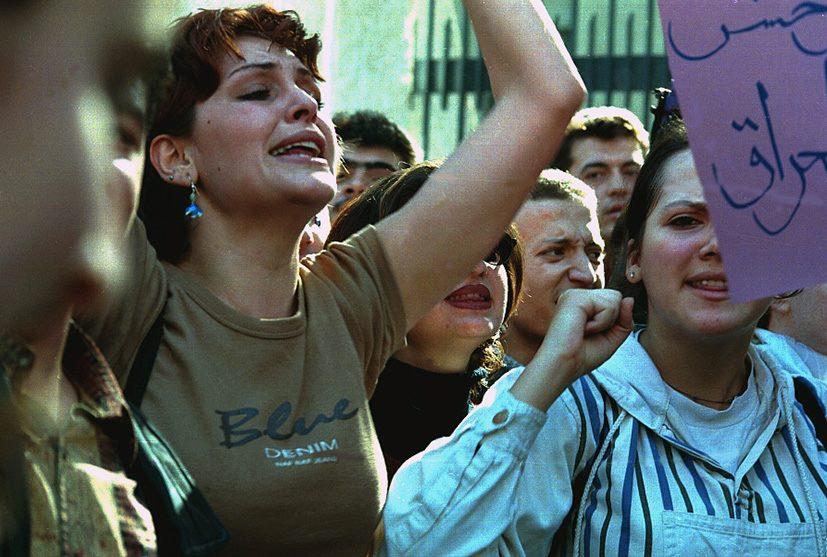 دمشق 1999- مظاهرة تضامنية مع العراق (3)