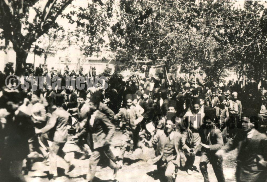 دمشق 1939 - الشرطة تفرق مظاهرة خرجت احتجاجاً على قانون الأحوال الشخصية