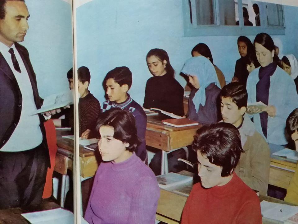 الرقة 1972- مدرسة عبد الناصر في الطبقة
