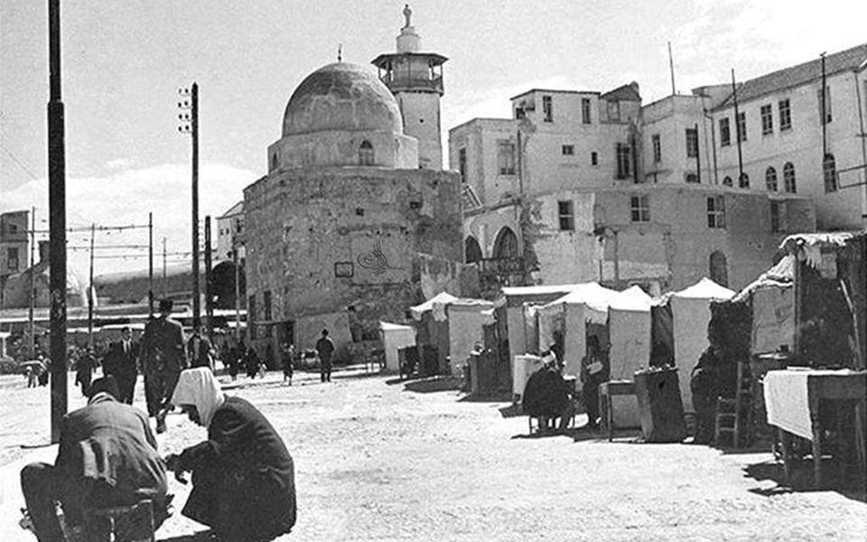 دمشق في الثلاثينيات - محلة السنجقدار من الغرب الى الشرق بعد حريق 1928