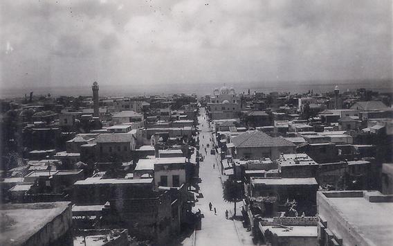 صورة اللاذقية من مسجد المغربي باتجاه البحر .. منتصف القرن العشرين