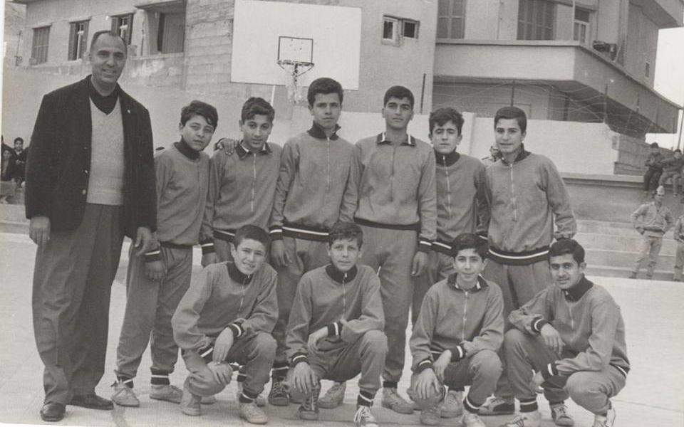 دمشق 1967- فريق كرة السلة في مدرسة ابن خلدون