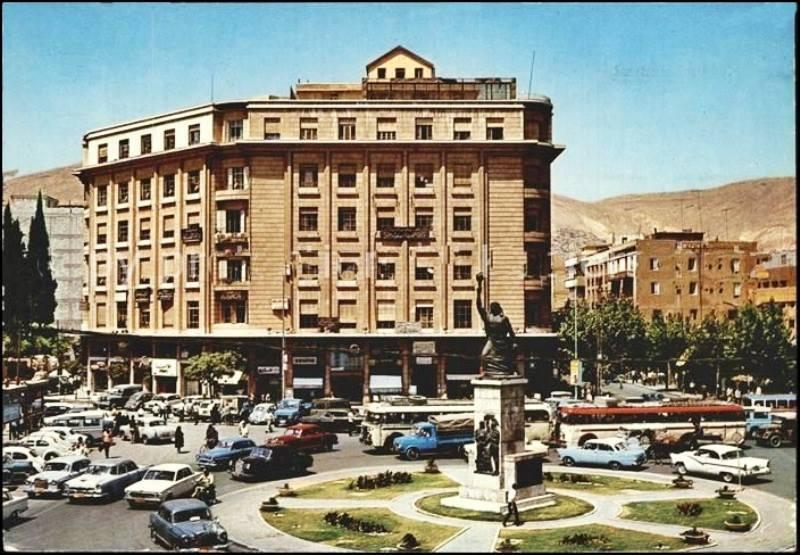 دمشق - بوابة الصالحية في نهاية ستينيات القرن العشرين