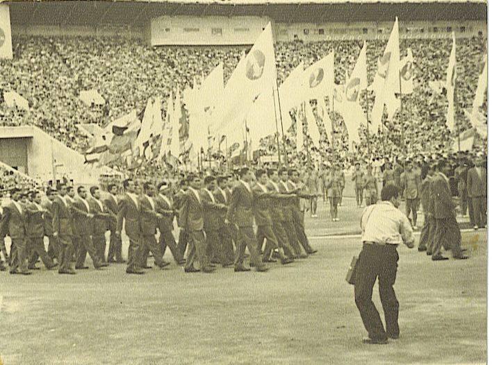 منتخب كرة السلة السوري في مهرجان موسكو العالمي لشباب عام 1957