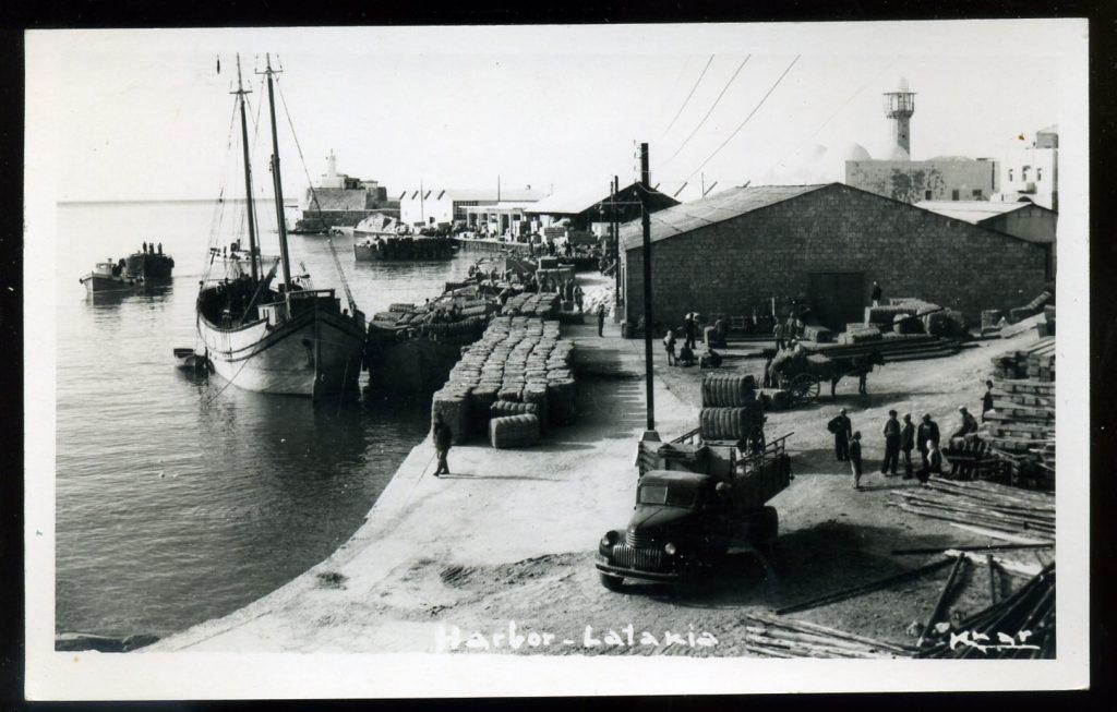 اللاذقية 1952- المرفأ