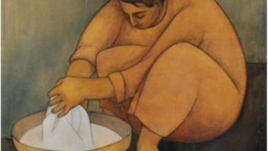 الغسالة 3 .. لوحة للفنان لؤي كيالي (23)