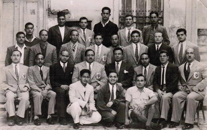منتخب سورية بالمصارعة الرومانية في زيارته لمصر عام 1944