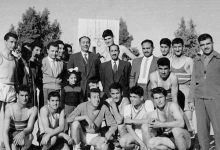 صورة دمشق 1959- مباراة بين ثانوية التجهيز الأولى والثانية