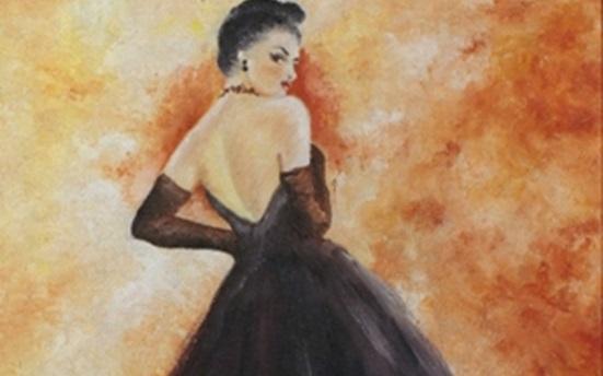 صورة زليخة كيالي … من لوحاتالفنان لؤي كيالي (36)