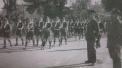 اللاذقية 1947- عرض عسكري في ساحة الشيخضاهر بمناسبة عيد الجلاء
