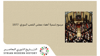مرسوم تسمية أعضاء مجلس الشعب السوري عام 1977
