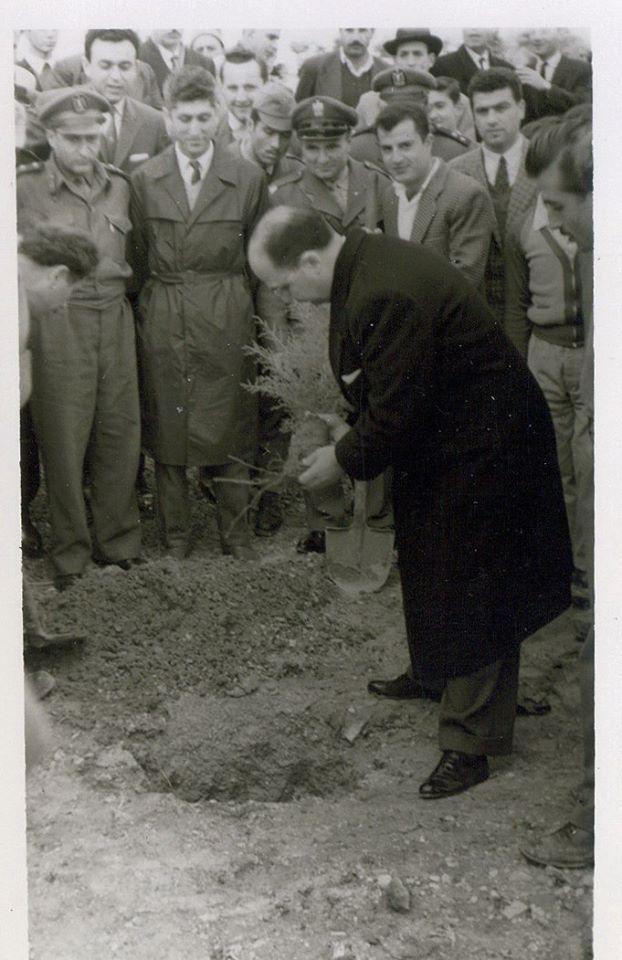 عدنان الخطيب محافظ اللاذقية في احتفال عيد الشجرة 1961